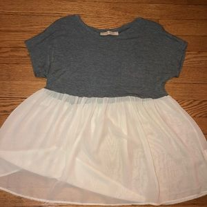 Tulle and Gray Shirt